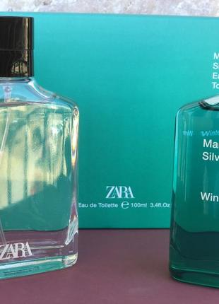 Духи zara в наборе silver silver winter /парфюм/туалетная вода/парфуми/туалетна вода