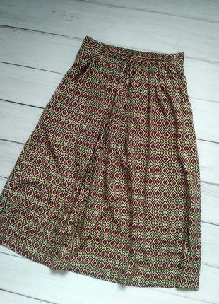 Цветная юбка миди