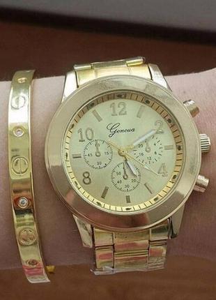 Часы женева geneva золото pan