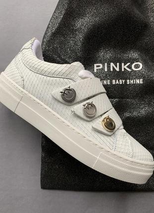Белые кеды pinko оригинал италия, натуральная кожа