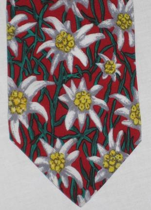 Шелковый галстук/цветы