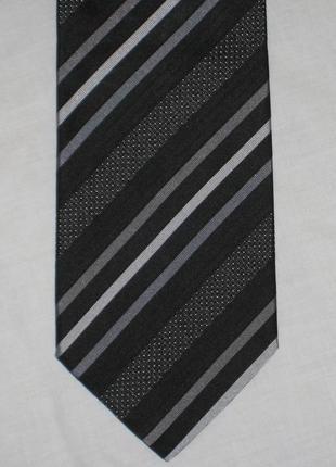 Шелковый галстук в полоску