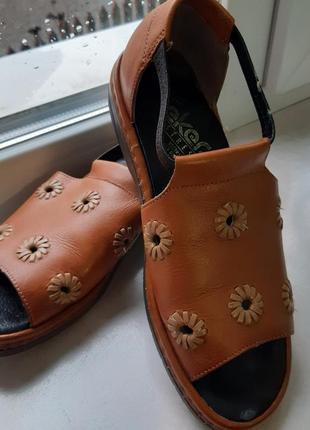 Летние туфли с открытым носком, размер 38,5-39, rieker