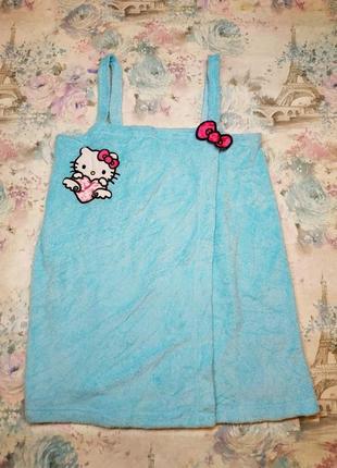 Оригинал sanrio hello kitty, махровое полотенце халат