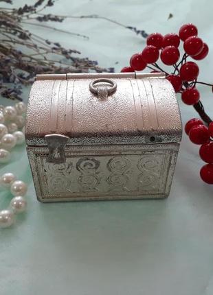 Сундучок (ларец) шкатулка ссср, мытищинский з-д 70-е, винтажная сувенирная