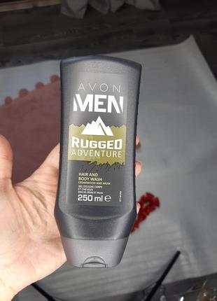 Мужской гель для мытья тела и волос кедр и мускус rugged adventure