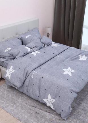Полуторный постельный комплект серого цвета в наличии, постельное белье хорошего качества