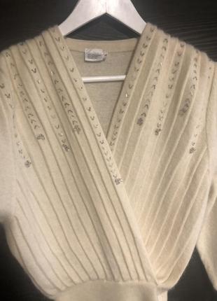 Невероятно красивая кофточка ангора шерсть рукава фонарики