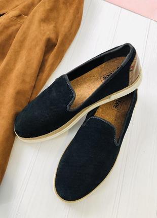 Кожаные туфли из замшевой кожи лоферы  lee