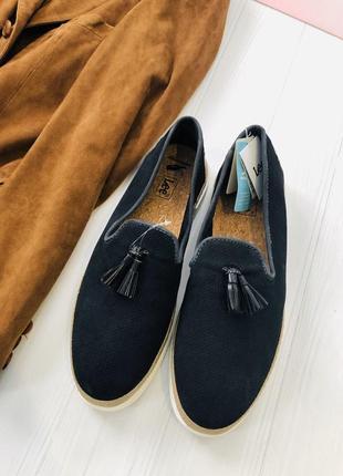 Замшевые мокасины туфли лоферы lee