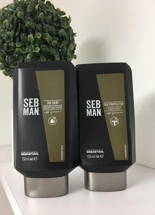 Набір sebastian professional seb man the protector крем для гоління та the gent