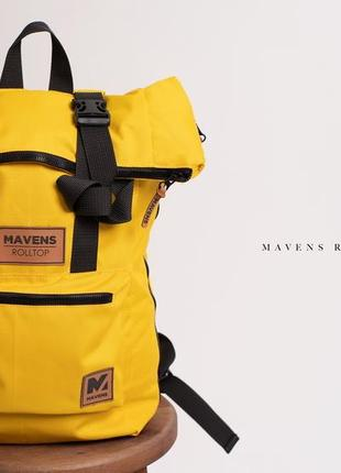 Рюкзак «mavens rolltop» для ручной клади wizz air ryanair (40х20х25) цвет желтый