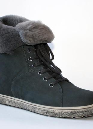 Зимние ботинки go soft германия, оригинал. натуральная кожа, цигейка. 36-421