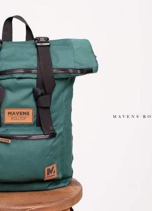 Рюкзак «mavens rolltop» для ручной клади wizz air ryanair (40х20х25) цвет зеленый