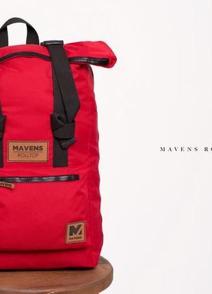 Рюкзак «mavens rolltop» для ручной клади wizz air ryanair (40х20х25) цвет красный