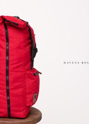Рюкзак «mavens rolltop» для ручной клади wizz air ryanair (40х20х25) цвет красный2 фото