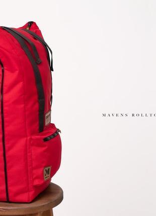 Рюкзак «mavens rolltop» для ручной клади wizz air ryanair (40х20х25) цвет красный3 фото