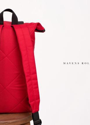Рюкзак «mavens rolltop» для ручной клади wizz air ryanair (40х20х25) цвет красный5 фото