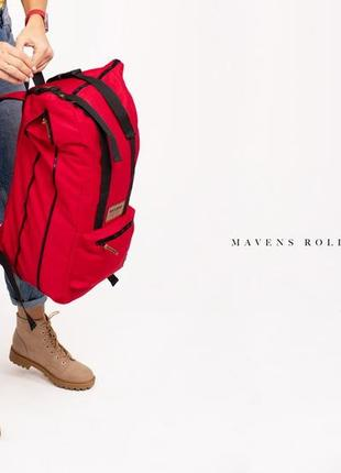 Рюкзак «mavens rolltop» для ручной клади wizz air ryanair (40х20х25) цвет красный6 фото