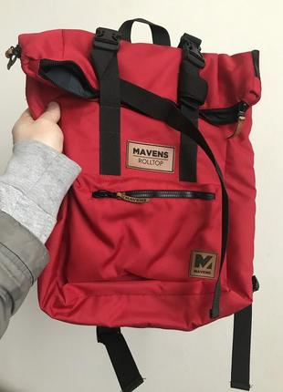 Рюкзак «mavens rolltop» для ручной клади wizz air ryanair (40х20х25) цвет красный8 фото