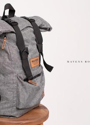Рюкзак «mavens rolltop» для ручной клади wizz air ryanair (40х20х25) цвет серый