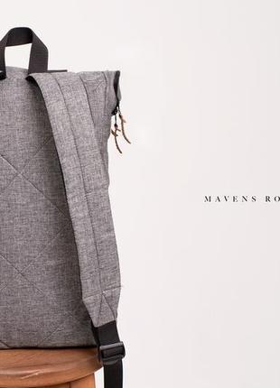 Рюкзак «mavens rolltop» для ручной клади wizz air ryanair (40х20х25) цвет серый2 фото