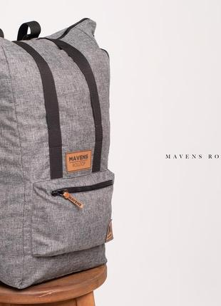 Рюкзак «mavens rolltop» для ручной клади wizz air ryanair (40х20х25) цвет серый3 фото