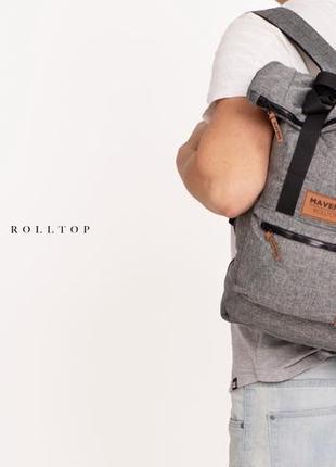Рюкзак «mavens rolltop» для ручной клади wizz air ryanair (40х20х25) цвет серый4 фото