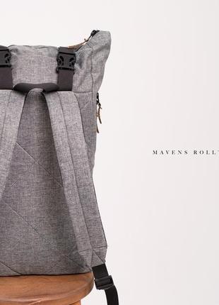 Рюкзак «mavens rolltop» для ручной клади wizz air ryanair (40х20х25) цвет серый5 фото