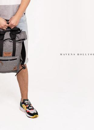 Рюкзак «mavens rolltop» для ручной клади wizz air ryanair (40х20х25) цвет серый6 фото
