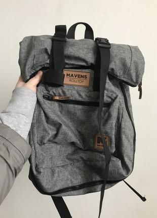 Рюкзак «mavens rolltop» для ручной клади wizz air ryanair (40х20х25) цвет серый7 фото