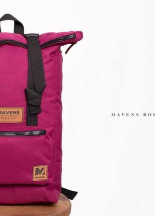 Рюкзак «mavens rolltop» для ручной клади wizz air ryanair (40х20х25) цвет фиолетовый