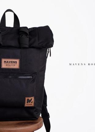 Рюкзак «mavens rolltop» для ручной клади wizz air ryanair (40х20х25) цвет черный