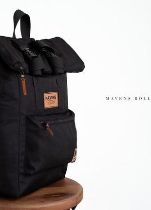 Рюкзак «mavens rolltop» для ручной клади wizz air ryanair (40х20х25) цвет черный2 фото
