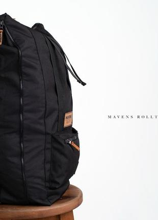 Рюкзак «mavens rolltop» для ручной клади wizz air ryanair (40х20х25) цвет черный3 фото