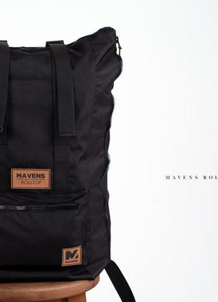 Рюкзак «mavens rolltop» для ручной клади wizz air ryanair (40х20х25) цвет черный4 фото