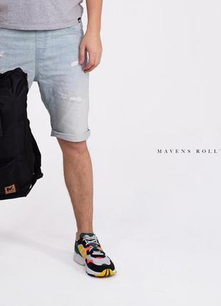 Рюкзак «mavens rolltop» для ручной клади wizz air ryanair (40х20х25) цвет черный5 фото