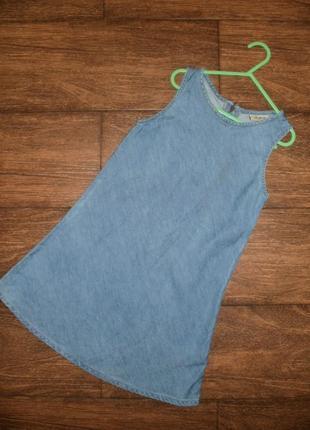 Джинсовое платье/сарафан на 8 лет