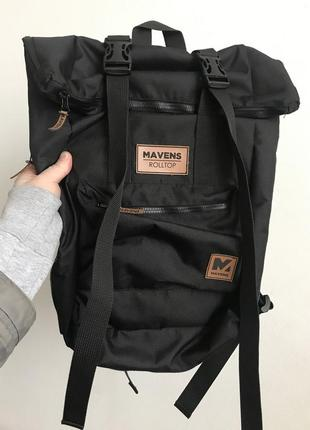 Рюкзак «mavens rolltop» для ручной клади wizz air ryanair (40х20х25) цвет черный8 фото