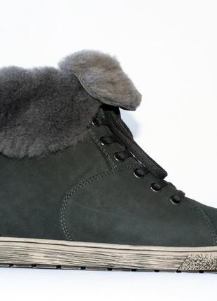 Зимние ботинки go soft германия, оригинал. натуральная кожа, цигейка. 36-422
