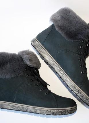 Зимние ботинки go soft германия, оригинал. натуральная кожа, цигейка. 36-423