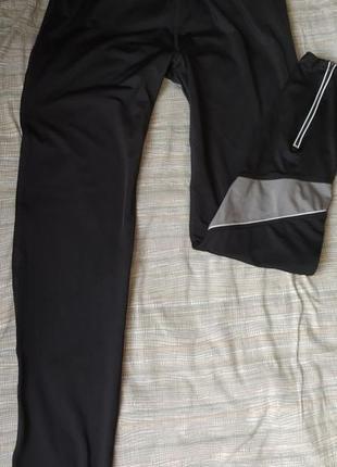 Спортивные эластичекие штаны тайтсы лосины для бега и спорта