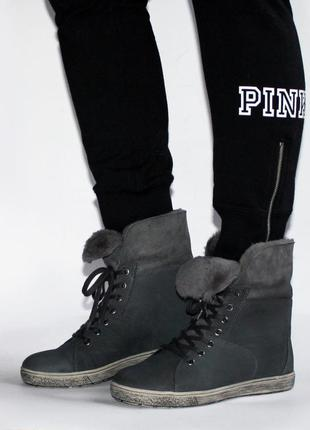 Зимние ботинки go soft германия, оригинал. натуральная кожа, цигейка. 36-425