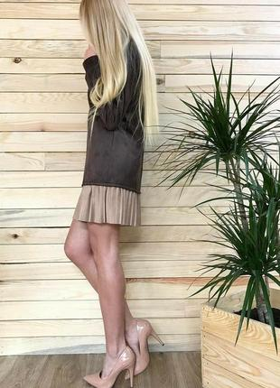 Платье из эко замша