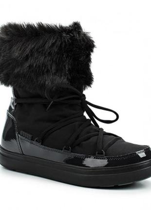 Crocs womens lodgepoint lace boot black оригинал.1