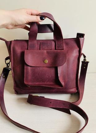Кожаная сумка от украинского бренда