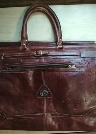 Очень крутая сумка кожа дорожная брендовая большая
