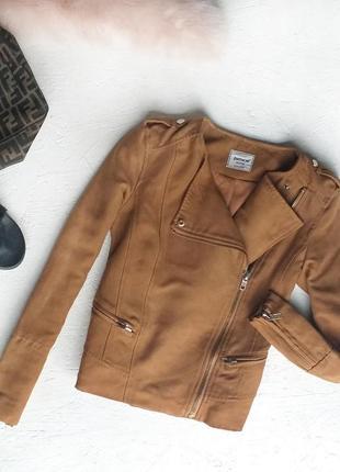 Стильная куртка косуха под замш ветровка на молнии от pimkie
