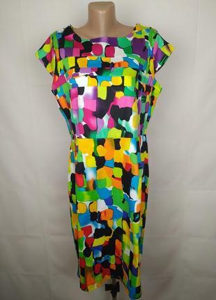 Платье стрейчевое модное большого размера uk 16/44/xl