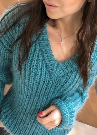 Мохеровый свитер английской резинкой💎